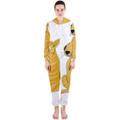 Yellow cat Hooded Jumpsuit (Ladies)