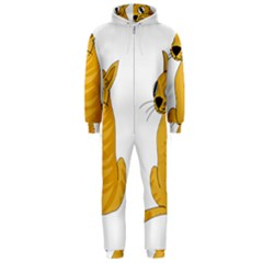 Yellow cat Hooded Jumpsuit (Men)