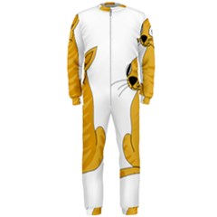 Yellow cat OnePiece Jumpsuit (Men)