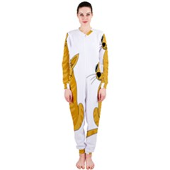 Yellow cat OnePiece Jumpsuit (Ladies)