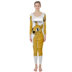 Yellow cat Long Sleeve Catsuit