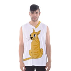 Yellow cat Men s Basketball Tank Top