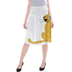 Yellow cat Midi Beach Skirt