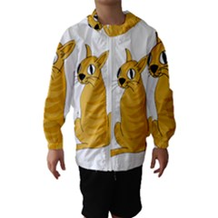 Yellow cat Hooded Wind Breaker (Kids)