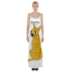 Yellow cat Maxi Thigh Split Dress