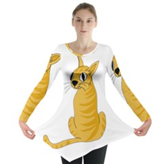 Yellow cat Long Sleeve Tunic