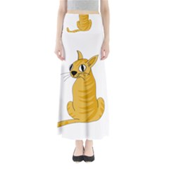 Yellow cat Maxi Skirts