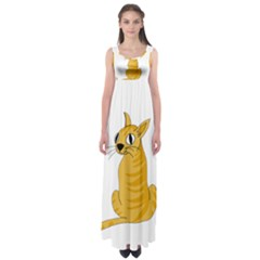 Yellow cat Empire Waist Maxi Dress
