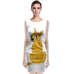 Yellow cat Classic Sleeveless Midi Dress