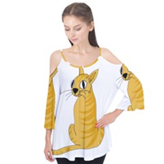 Yellow cat Flutter Tees
