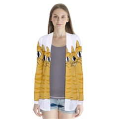 Yellow cat Cardigans
