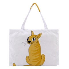 Yellow cat Medium Tote Bag