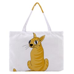 Yellow cat Medium Zipper Tote Bag