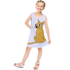 Yellow cat Kids  Tunic Dress