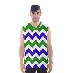 Blue And Green Chevron Men s Basketball Tank Top by AnjaniArt