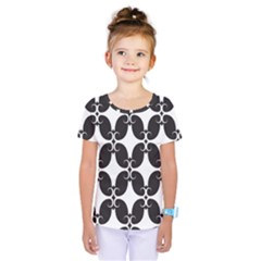 Black Flower Accents Kids  One Piece Tee by AnjaniArt