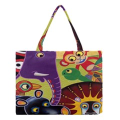 Animals Medium Tote Bag by AnjaniArt
