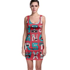 Alpha Monsters Sleeveless Bodycon Dress