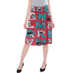 Alpha Monsters Midi Beach Skirt