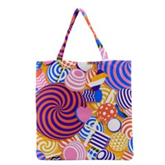 Canddy Color Grocery Tote Bag by AnjaniArt