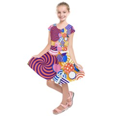 Canddy Color Kids  Short Sleeve Dress