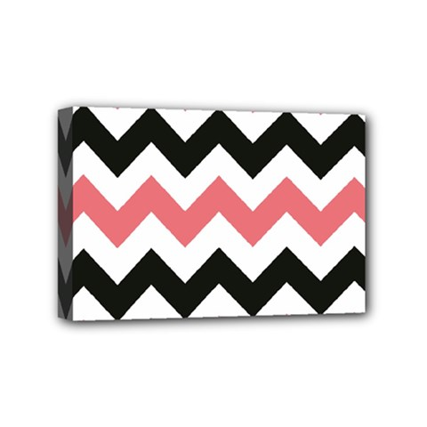 Chevron Crazy On Pinterest Blue Color Mini Canvas 6  X 4  by AnjaniArt