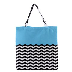 Color Block Jpeg Grocery Tote Bag by AnjaniArt