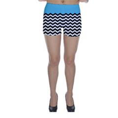 Color Block Jpeg Skinny Shorts