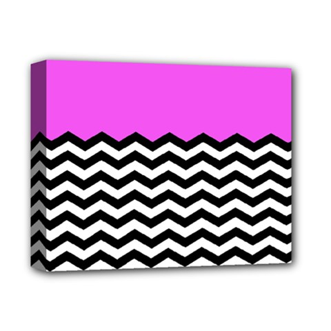 Colorblock Chevron Pattern Jpeg Deluxe Canvas 14  X 11  by AnjaniArt