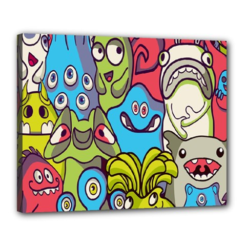 Colourful Monster Flooring Canvas 20  X 16