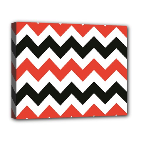Colored Chevron Printable Deluxe Canvas 20  X 16   by AnjaniArt