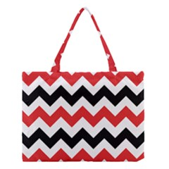 Colored Chevron Printable Medium Tote Bag by AnjaniArt
