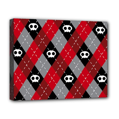 Cute Scull Deluxe Canvas 20  X 16   by AnjaniArt