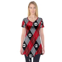 Cute Scull Short Sleeve Tunic