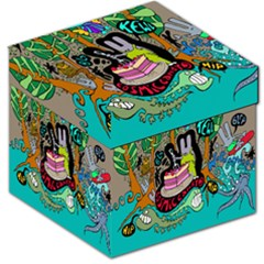 Cosmic Candy Monster Storage Stool 12   by AnjaniArt