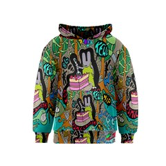 Cosmic Candy Monster Kids  Pullover Hoodie by AnjaniArt