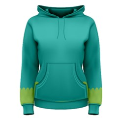 Green Blue Women s Pullover Hoodie