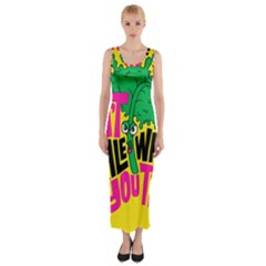 Idont Kale Think Fitted Maxi Dress by AnjaniArt