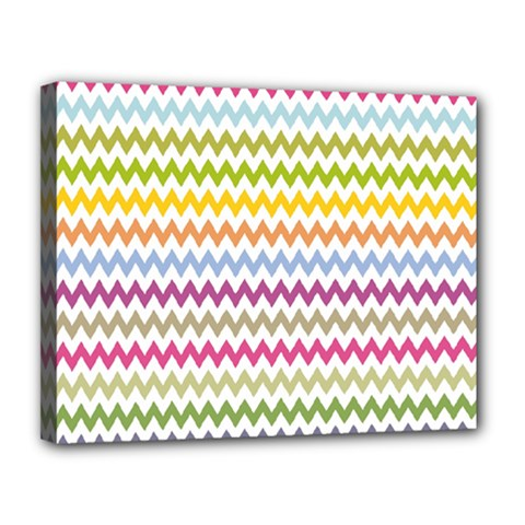 Color Full Chevron Canvas 14  X 11  by AnjaniArt
