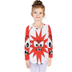 Monster Angry Kids  Long Sleeve Tee