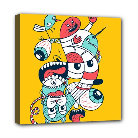 Monster Animals Mini Canvas 8  X 8  by AnjaniArt