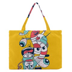 Monster Animals Medium Zipper Tote Bag