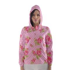 Rose Pink Hooded Wind Breaker (women)