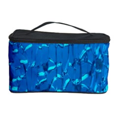 Shattered Blue Glass Cosmetic Storage Case by AnjaniArt