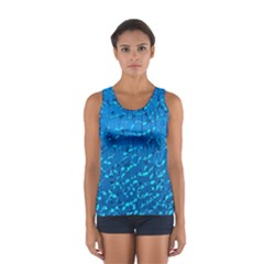 Shattered Blue Glass Women s Sport Tank Top