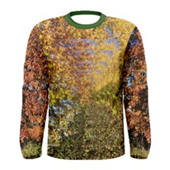 Autumn Trees Op Art Men s Long Sleeve Tee