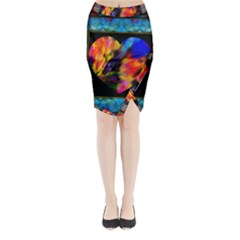 A Summer Night Love Affair Midi Wrap Pencil Skirt by wbk1