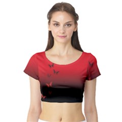 Lepidopteran Short Sleeve Crop Top (tight Fit)