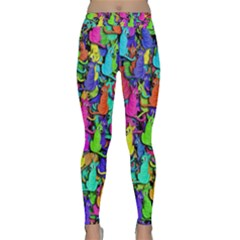 Colorful Cats Classic Yoga Leggings by Valentinaart