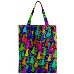 Colorful Cats Zipper Classic Tote Bag by Valentinaart